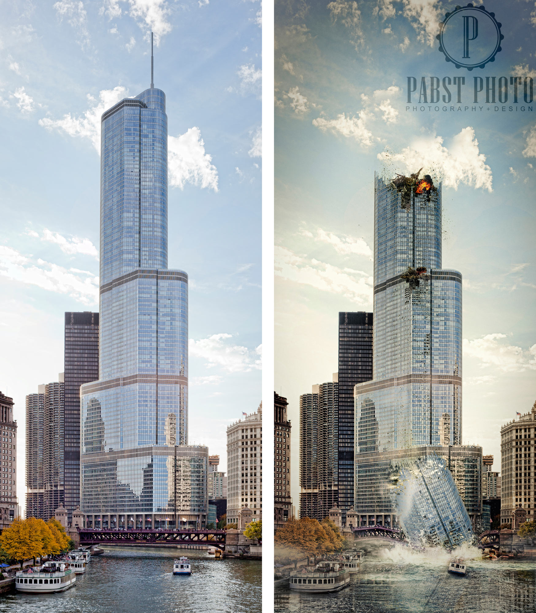 trump-tower-destroyed-speed-art-side-by-side