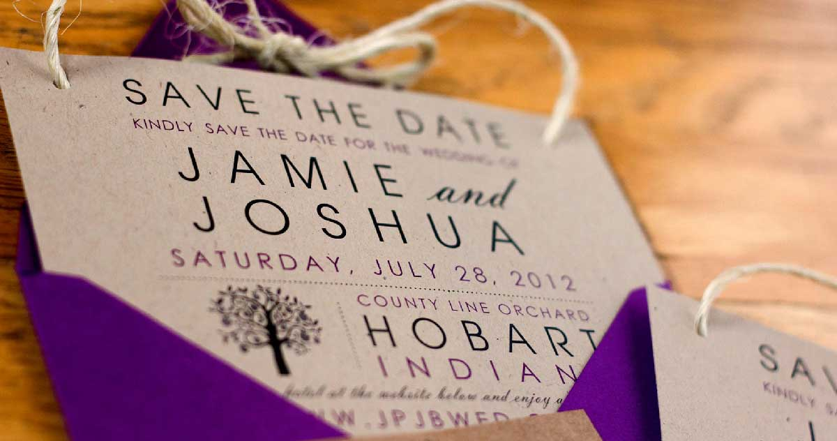 Save The Date County Line Orchard Wedding 03