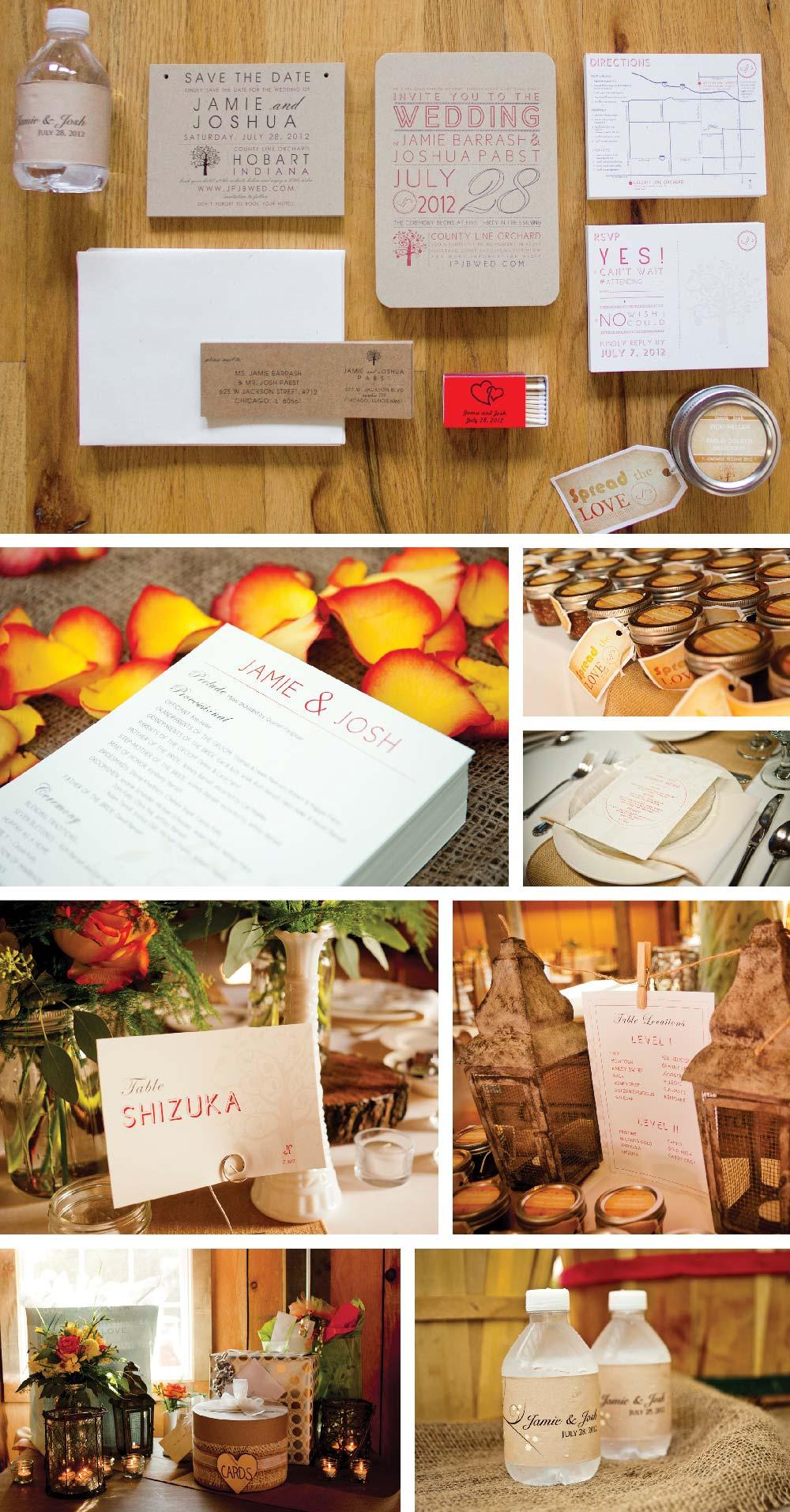 Wedding Invitation County Line Orchard Graphic Design Wedding