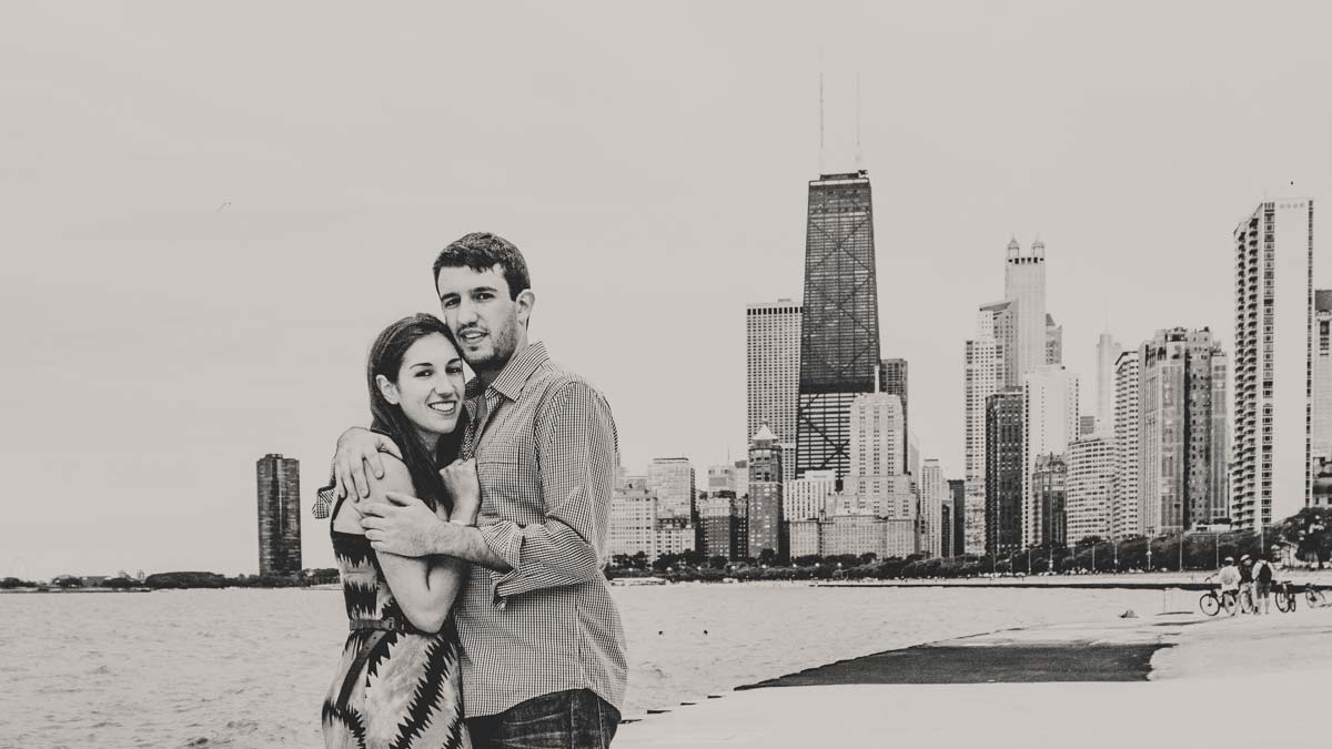 chicago skyline photography engagement session (2)