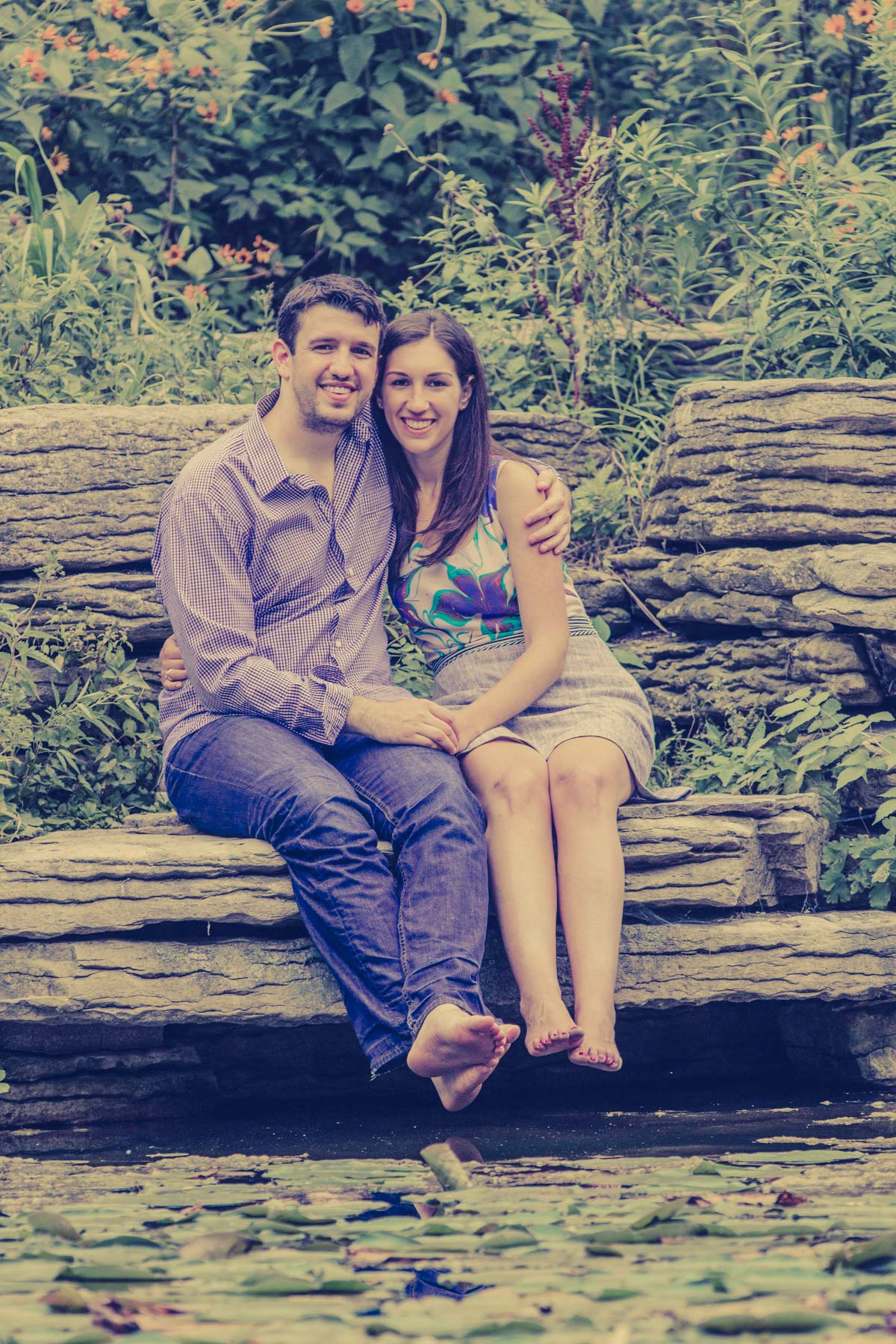 lincoln park engagement session lilly pond (3)