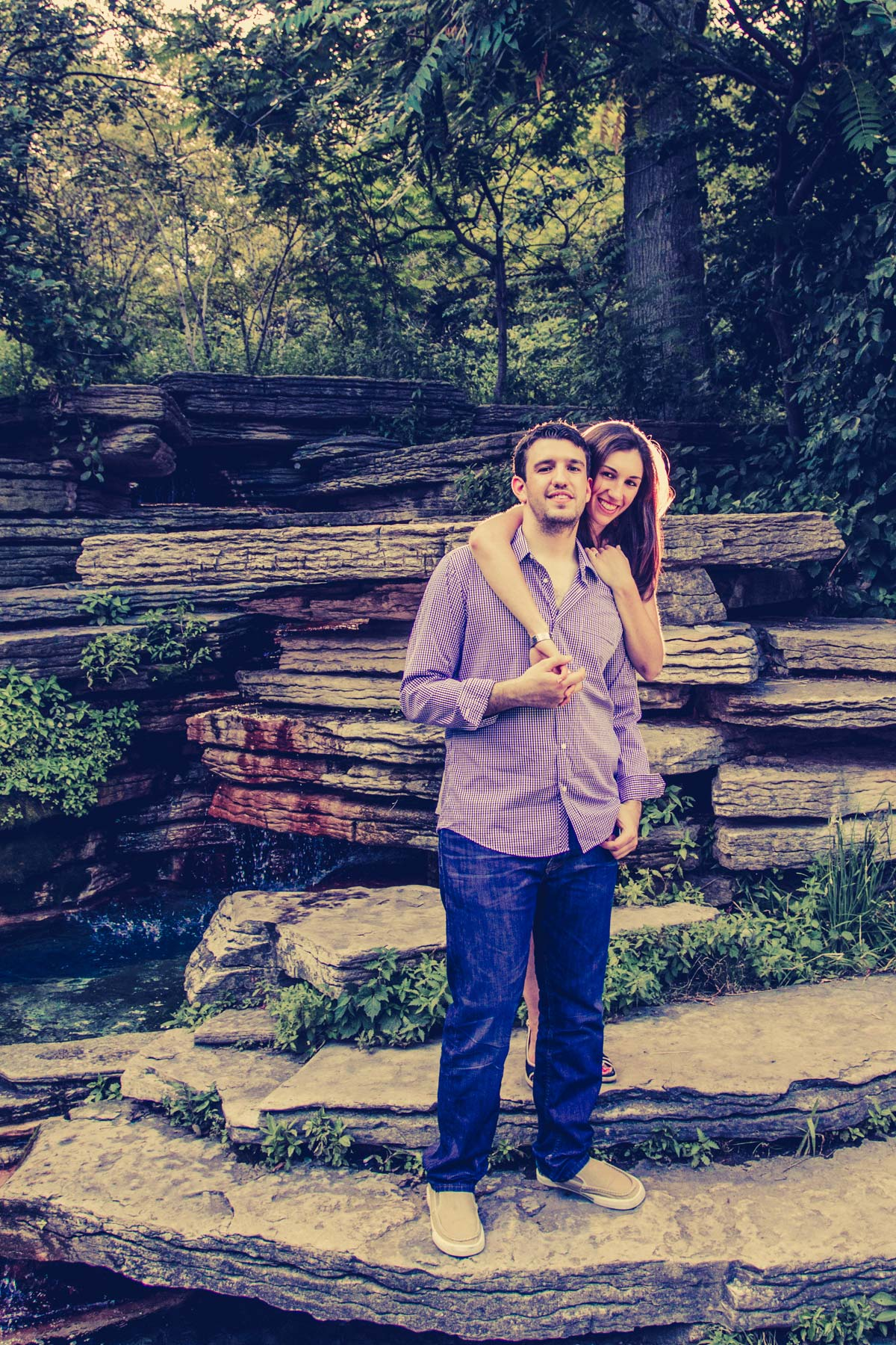 lincoln park engagement session lilly pond (6)