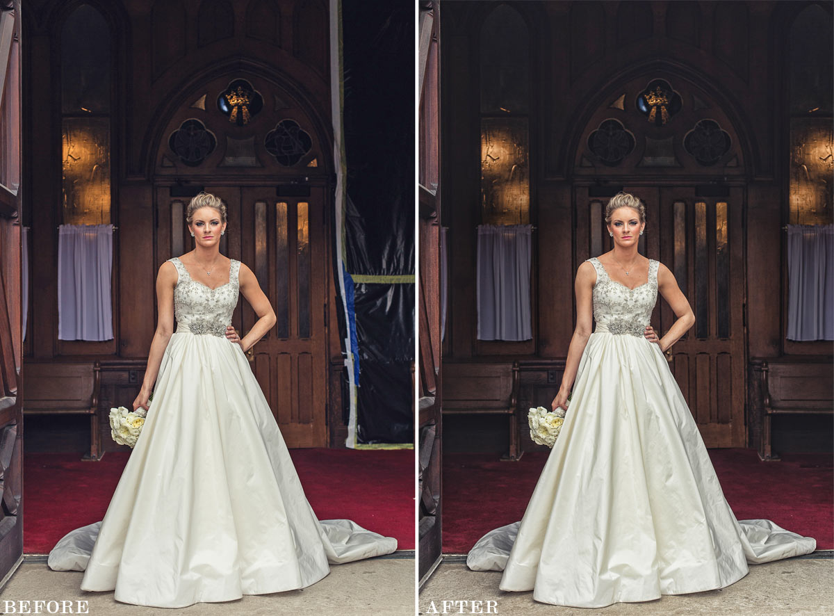 before after bride photo