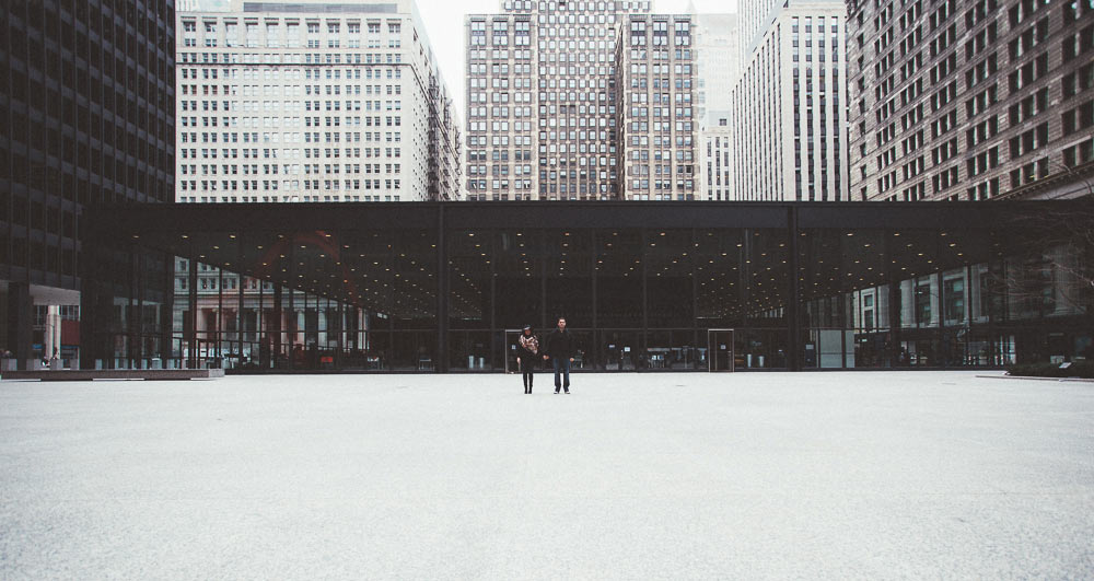 federal plaza engagement session chicago