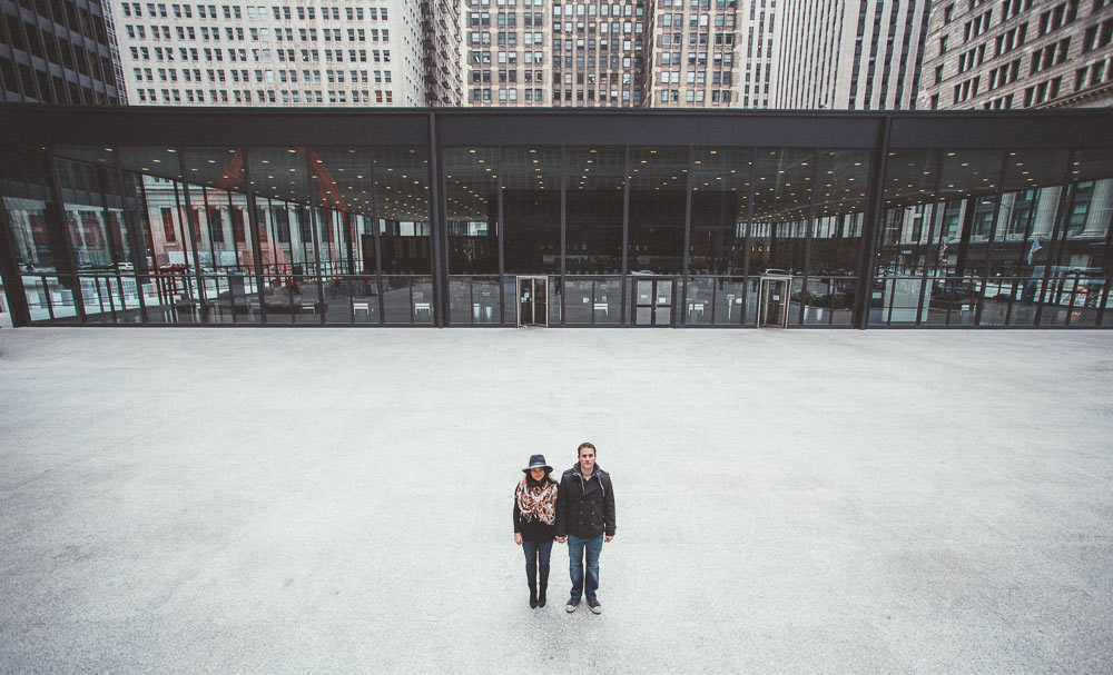 federal plaza engagement session chicago wide