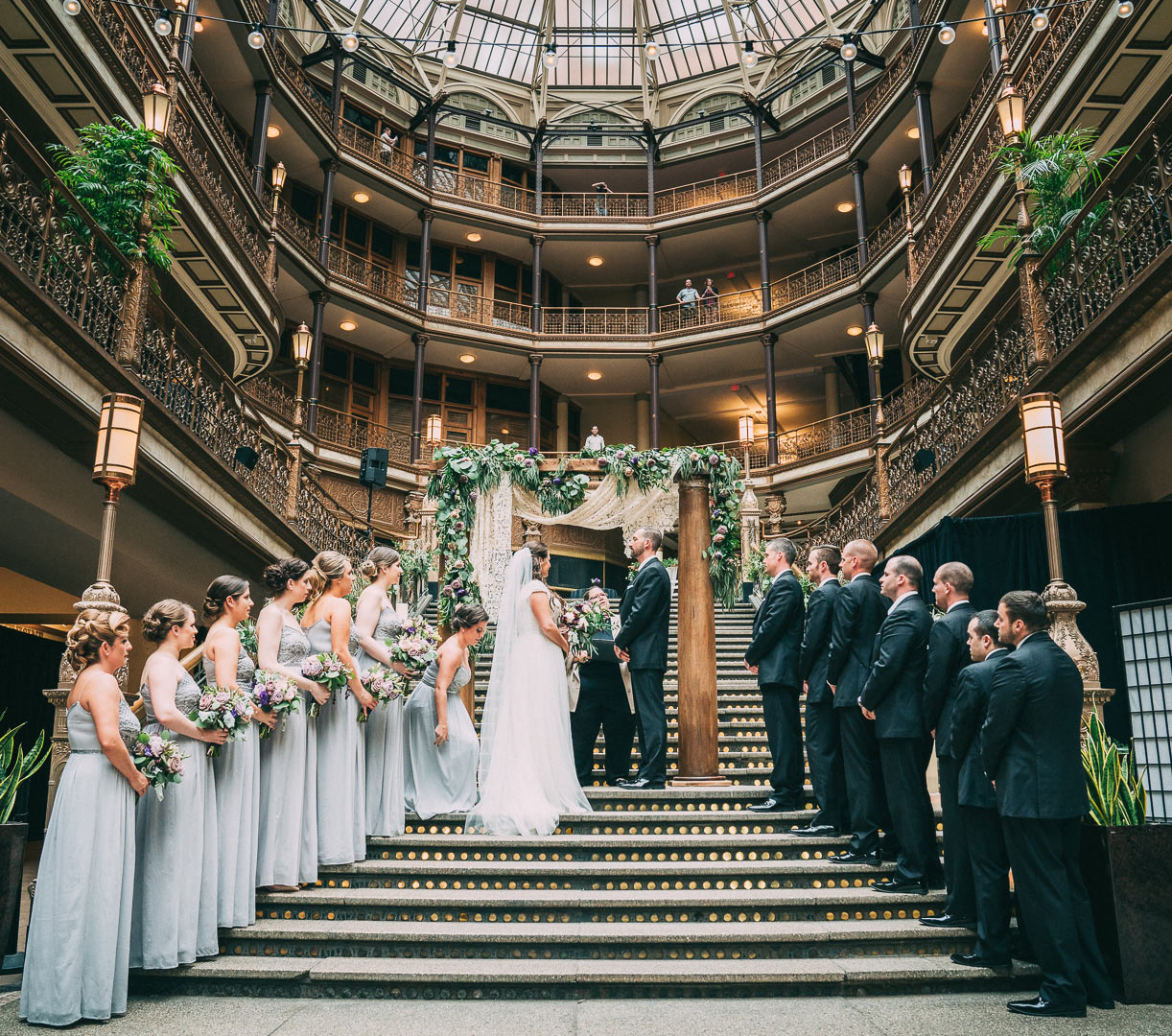 Hyatt Regency Arcade: A Cleveland Wedding